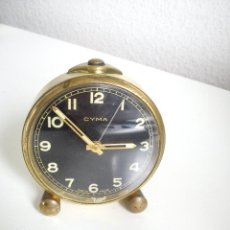 Despertadores antiguos: RELOJ DESPERTADOR CORDA MANUAL.MARCA CIMA WATCH CO MAD SUIZA DOSA ANOS 20,30 FONCIONA. Lote 43519561