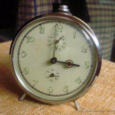 Despertadores antiguos: SCHULER RELOJ DESPERTADOR, PARA RESTAURAR, AVERIADO, POSIBLEMENTE DE PROCEDENCIA ALEMANA. Lote 43523454