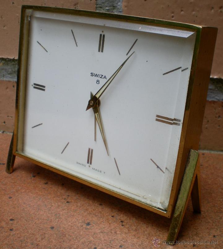 RELOJ DESPERTADOR SWIZA 8 , MARCADO RENAULT SERVAUTO MADRID (Relojes - Relojes Despertadores)