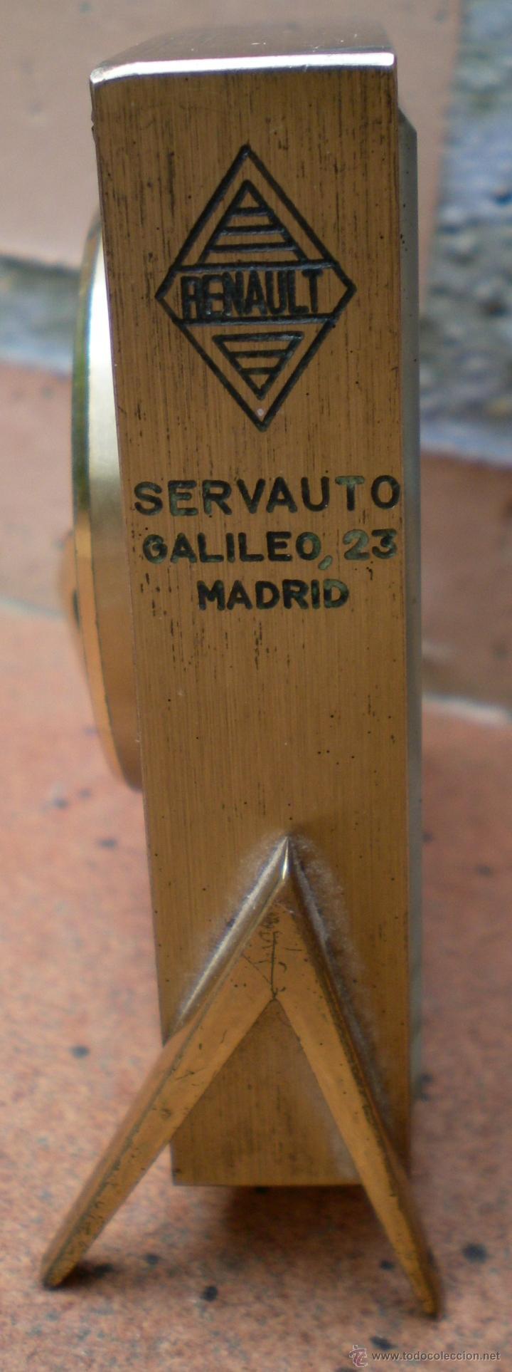 Despertadores antiguos: Reloj despertador Swiza 8 , marcado Renault Servauto Madrid - Foto 3 - 44025468