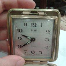 Despertadores antiguos: RELOJ DESPERTADOR DE VIAJE MARCA B.W.. Lote 44491812