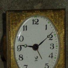 Despertadores antiguos: ANTIGUO RELOJ DESPERTADOR JAZ .CARGA MANUAL.FUNCIONANDO.. Lote 44854829