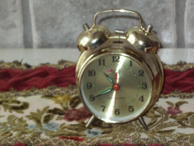 Despertadores antiguos: ANTIGUO RELOJ DESPERTADOR CLASICO. - Foto 5 - 44855007