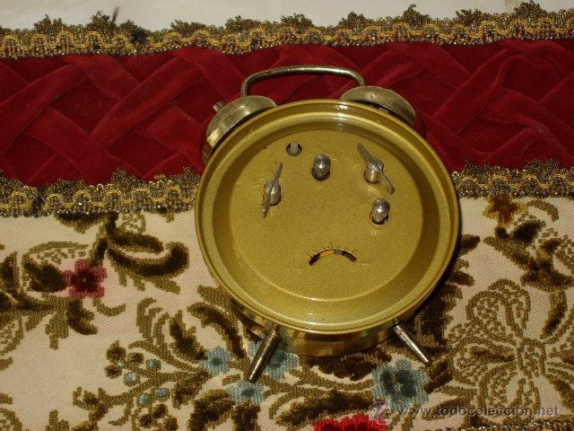Despertadores antiguos: ANTIGUO RELOJ DESPERTADOR CLASICO. - Foto 6 - 44855007