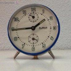 Despertadores antiguos: DESPERTADOR ALMAR FUNCIONA. Lote 45179780