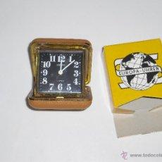 Despertadores antiguos: RELOJ EUROPA DE CUERDA CON CAJA ORIGINAL. Lote 46113307