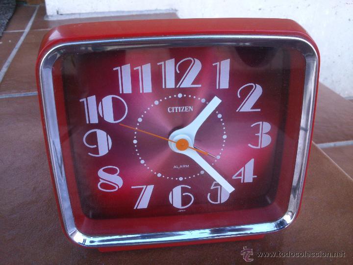 RELOJ DESPERTADOR CITIZEN, PRECIOSO COLOR PANTALLA .VINTAGE (Relojes - Relojes Despertadores)