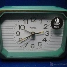 Despertadores antiguos: RELOJ DESPERTADOR KUNDO - MADE IN GERMANY - NUEVO. Lote 46562648