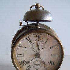 Despertadores antiguos: RELOJ DESPERTADOR CON CAMPANA. Lote 46679233