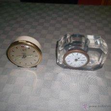 Despertadores antiguos: LOTE DE 2 RELOJES ALEMANES. Lote 46754037