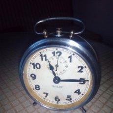 Despertadores antiguos: RELOJ DESPERTADOR MILO - AÑOS 50. FUNCIONANDO. . TOTALMENTE OPERATIVO. LEER DESCRIPCION.. Lote 46796041