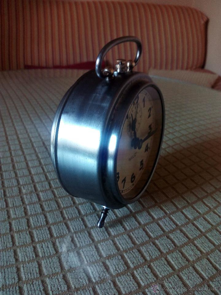 Despertadores antiguos: RELOJ DESPERTADOR MILO - AÑOS 50. FUNCIONANDO. TRATADO INTEGRAMENTE. LEER DESCRIPCION. - Foto 11 - 46796041