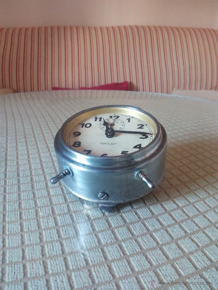 Despertadores antiguos: RELOJ DESPERTADOR MILO - AÑOS 50. FUNCIONANDO. TRATADO INTEGRAMENTE. LEER DESCRIPCION. - Foto 14 - 46796041