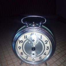 Despertadores antiguos: RELOJ DESPERTADOR A CUERDA. BAYARD. ESPAÑOL. FUNCIONANDO. AÑOS 60 DESCRIP. Y FOTOS.. Lote 46835218