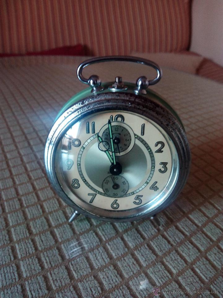 Despertadores antiguos: RELOJ DESPERTADOR A CUERDA. BAYARD. ESPAÑOL. FUNCIONANDO. AÑOS 60 DESCRIP. Y FOTOS. - Foto 3 - 46835218