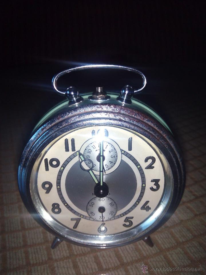 Despertadores antiguos: RELOJ DESPERTADOR A CUERDA. BAYARD. ESPAÑOL. FUNCIONANDO. AÑOS 60 DESCRIP. Y FOTOS. - Foto 13 - 46835218