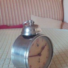 Despertadores antiguos: ANTIGUO DESPERTADOR A CUERDA. AÑOS 60. FUNCIONANDO.. BUENA CONSERVACION. DESCRIP. Y FOTOS.. Lote 46915821