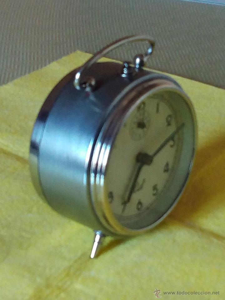 DESPERTADOR ESPAÑOL C I D - AÑOS 60. FUNCIONANDO. TRATADO INTERIOR / EXTERIOR. DESCRIP. Y FOTOS DI (Relojes - Relojes Despertadores)