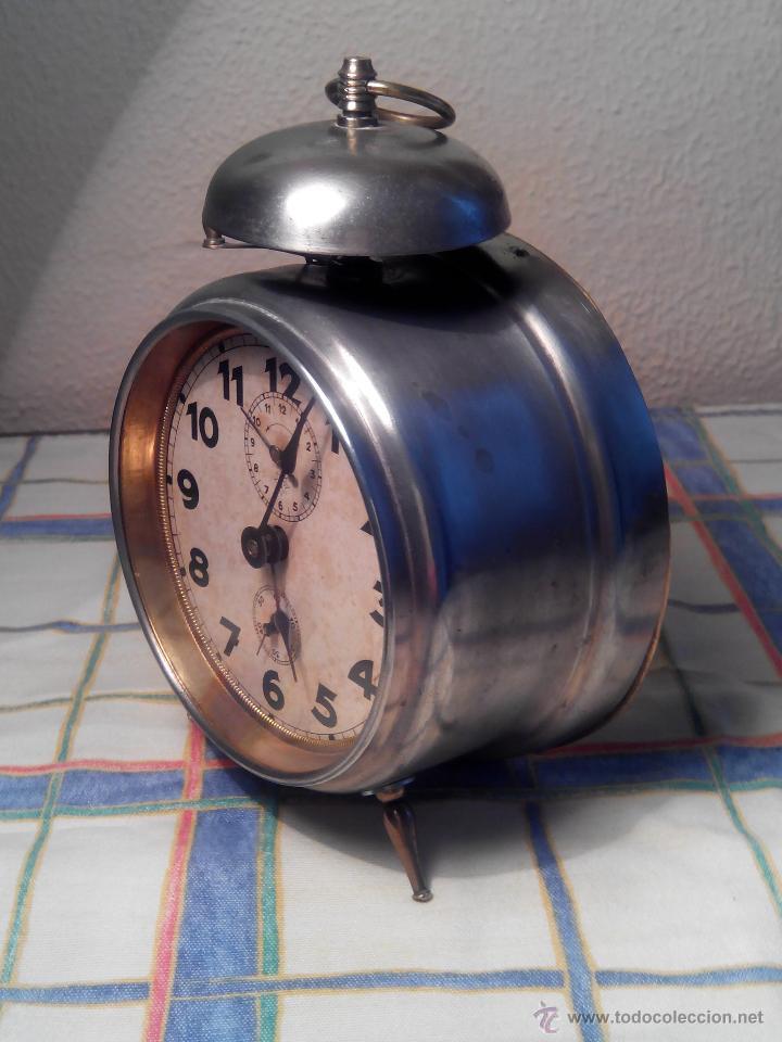 Despertadores antiguos: ANTIGUO DESPERTADOR DE CAMPANA - AÑOS 50 - FUNCIONANNDO. (TESTADO). DESCRIP. Y FOTOS INTER/EXTER. - Foto 4 - 47167548