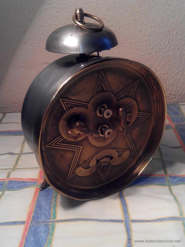 Despertadores antiguos: ANTIGUO DESPERTADOR DE CAMPANA - AÑOS 50 - FUNCIONANNDO. (TESTADO). DESCRIP. Y FOTOS INTER/EXTER. - Foto 5 - 47167548