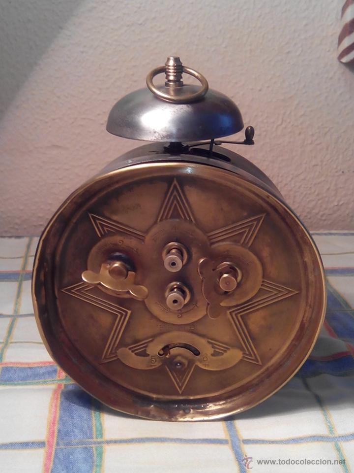 Despertadores antiguos: ANTIGUO DESPERTADOR DE CAMPANA - AÑOS 50 - FUNCIONANNDO. (TESTADO). DESCRIP. Y FOTOS INTER/EXTER. - Foto 6 - 47167548