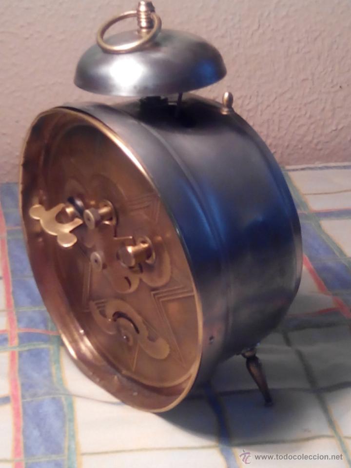 Despertadores antiguos: ANTIGUO DESPERTADOR DE CAMPANA - AÑOS 50 - FUNCIONANNDO. (TESTADO). DESCRIP. Y FOTOS INTER/EXTER. - Foto 8 - 47167548