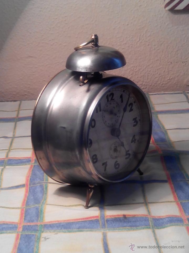Despertadores antiguos: ANTIGUO DESPERTADOR DE CAMPANA - AÑOS 50 - FUNCIONANNDO. (TESTADO). DESCRIP. Y FOTOS INTER/EXTER. - Foto 9 - 47167548