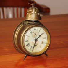 Despertadores antiguos: ANTIGUO RELOJ DESPERTADOR DE CAMPANA JUNGHANS S.XIX. Lote 48369825