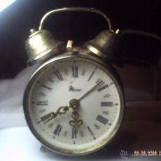 Despertadores antiguos: RELOJ DESPERTADOR CARGA MANUAL MICRO. DETERIORADO.. Lote 48402217