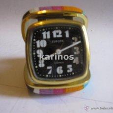 Despertadores antiguos: DESPERTADOR EUROPA CUERDA (FUNCIONANDO). Lote 48519019