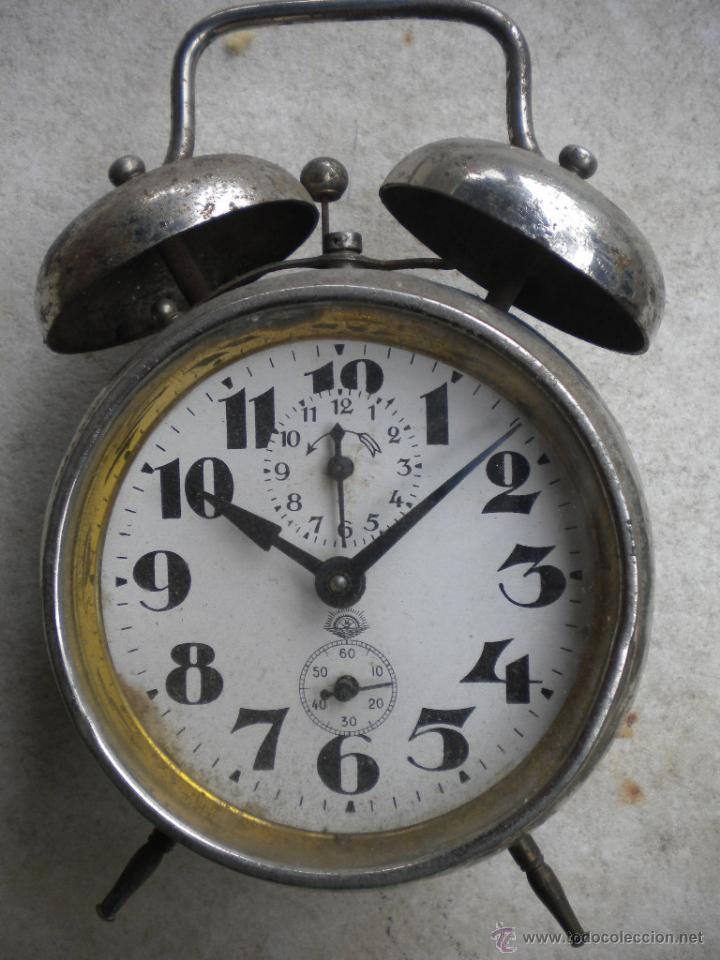 RELOJ DESPERTADOR DOBLE CAMPANA, NO FUNCIONA,12X13 (Relojes - Relojes Despertadores)
