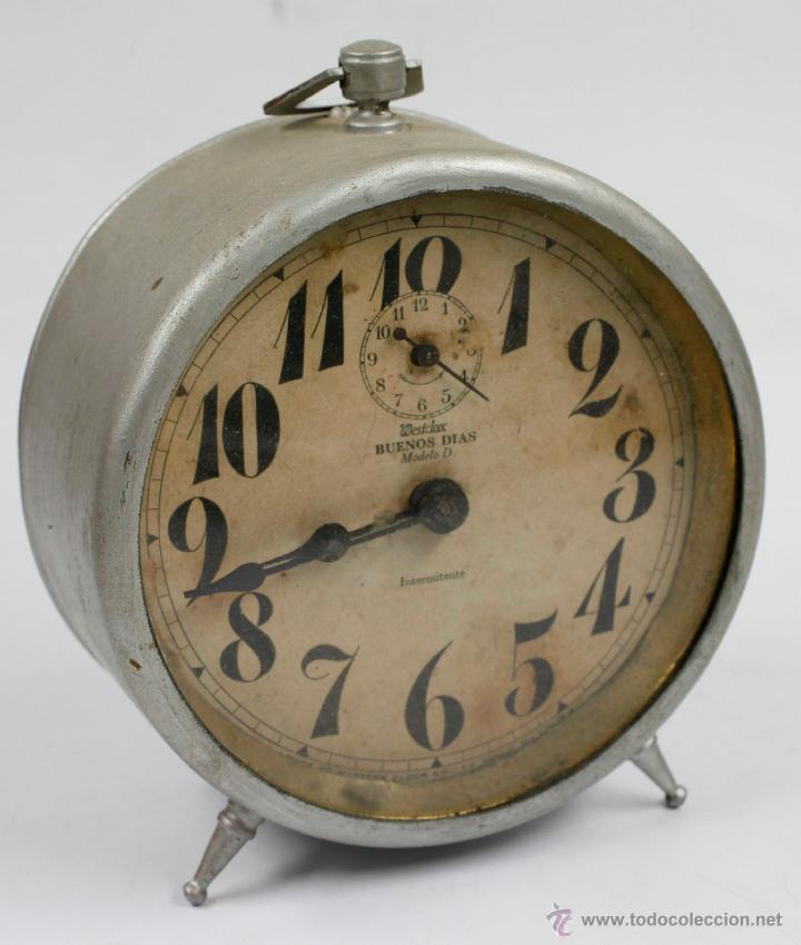 DESPERTADOR CLASICO WESTCLOCK. 13X13 CM. 1940'S (Relojes - Relojes Despertadores)