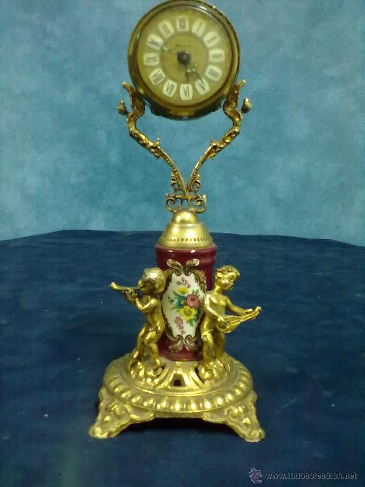 Despertadores antiguos: RELOJ BLESSING BRONCE DORADO PORCELANA WEST-GERMANY - Foto 1 - 49441015