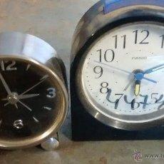 Despertadores antiguos: 2 DESPERTADORES A PILAS. Lote 50623061