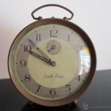 Despertadores antiguos: SMITH ALARM MADE IN GT BRITAIN. Lote 50667100