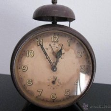 Despertadores antiguos: ANTIGUO DESPERTADOR SIN MARCA VEAN FOTOGRAFIAS PARA REPARAR. Lote 50717005