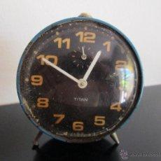 Despertadores antiguos: TITAN VIEJO DESPERTADO. Lote 50760234
