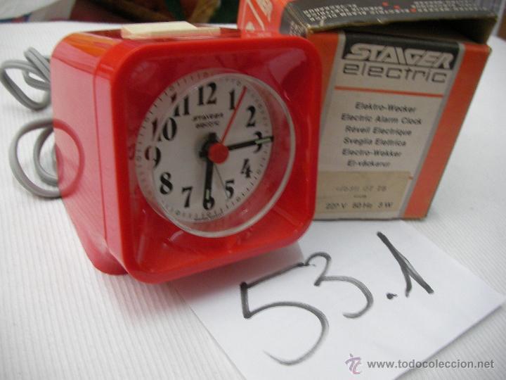Despertadores antiguos: ANTIGUO RELOJ WEST GERMANY NUEVO EN SU CAJA DE TIENDA - STAIGER ELECTRIC - SIN RUIDO ALGUNO Y EXACTO - Foto 2 - 50799608