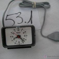 Despertadores antiguos: ANTIGUO RELOJ WESTERN GERMANY NUEVO DE TIENDA - STAIGER ELECTRIC - SIN RUIDO ALGUNO Y EXACTO. Lote 50799633