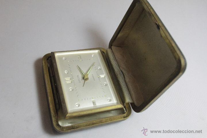 Despertadores antiguos: RELOJ DESPERTADOR PLEGABLE DE CARGA MANUAL CON ALARMA MARCA EUROPA MADE . FUNCIONA - Foto 2 - 51431547