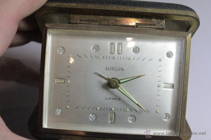 Despertadores antiguos: RELOJ DESPERTADOR PLEGABLE DE CARGA MANUAL CON ALARMA MARCA EUROPA MADE . FUNCIONA - Foto 3 - 51431547