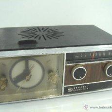Despertadores antiguos: ANTIGUO Y RARO RADIO RELOJ DESPERTADOR -GENERAL ELECTRIC PBC 550G -125V- PBC550G ELECTRICA .AÑOS 50. Lote 51962905