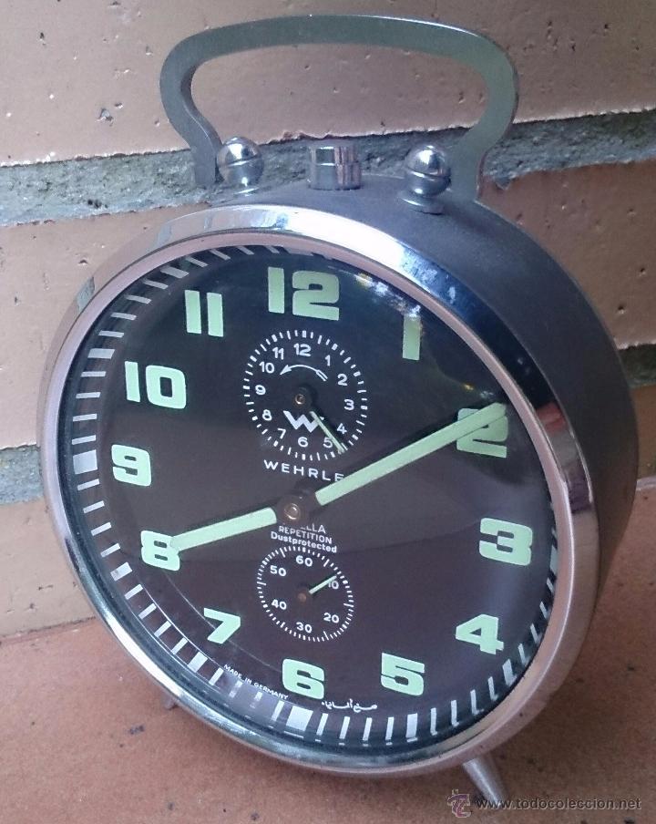 RELOJ DESPERTADOR ALEMÁN MARCA WEHRLE ARELLA REPETITION, MADE IN GERMANY (Relojes - Relojes Despertadores)