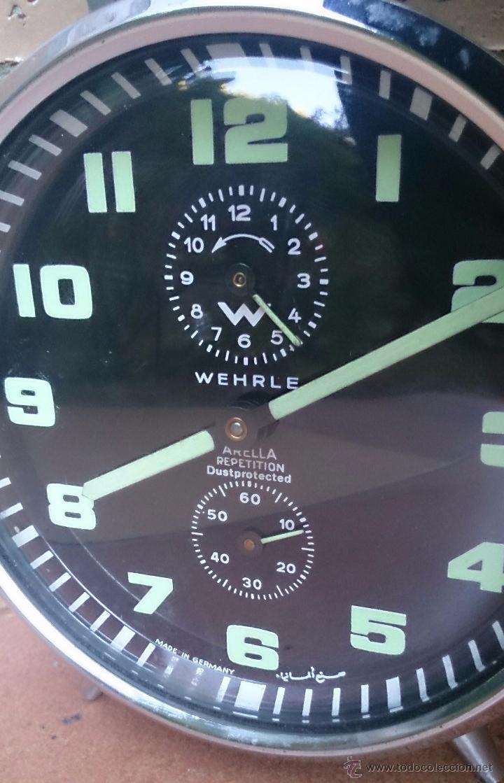 Despertadores antiguos: Reloj despertador alemán marca Wehrle Arella Repetition, made in Germany - Foto 2 - 52610487