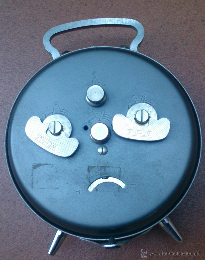 Despertadores antiguos: Reloj despertador alemán marca Wehrle Arella Repetition, made in Germany - Foto 5 - 52610487