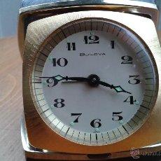Despertadores antiguos: RELOJ BULOVA DESPERTADOR CARGA MANUAL,JAPAN,EN PERFECTO FUNCIONAMIENTO,DESPERTADOR Y RELOJ. Lote 53181502