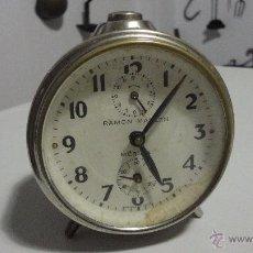Despertadores antiguos: ANTIGUO RELOJ DESPERTADOR RAMON MALLEN.MERIDA.AÑOS 40.50.. Lote 53490844