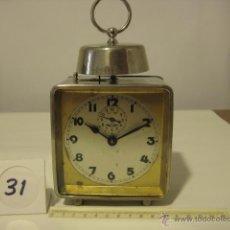 Despertadores antiguos: RELOJ DESPERTADOR ALEMAN DE 1910 MARCA KIENZLE DE COLECCION. Lote 53771078