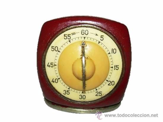 ANTIGUO RELOJ DE COCINA TEMPORIZADOR PARA CONTAR LOS MINUTOS....AÑOS 40 (Relojes - Relojes Despertadores)