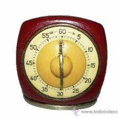 Despertadores antiguos: ANTIGUO RELOJ DE COCINA TEMPORIZADOR PARA CONTAR LOS MINUTOS....AÑOS 40. Lote 39277917